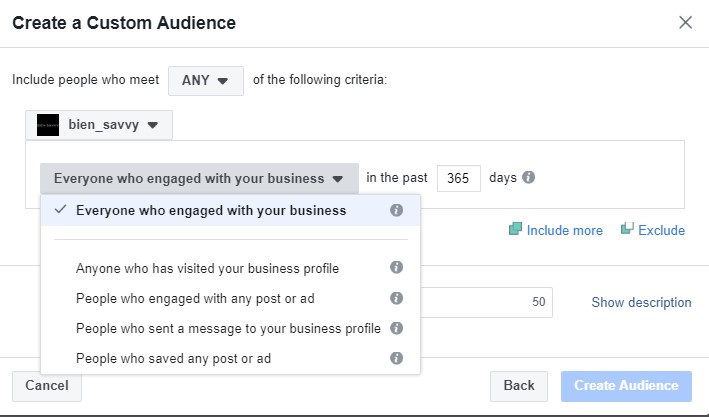facebook ads custom